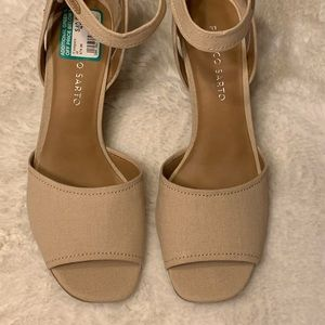 Franco Sarto Hanson Tan Natural Wedge Sandal